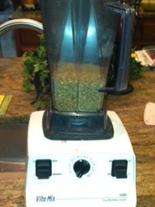 Grinding wheat into flour