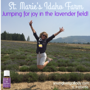 jump in lavender field