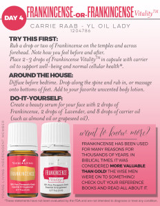 Young Living Frankincense and Frank Vitality Oil