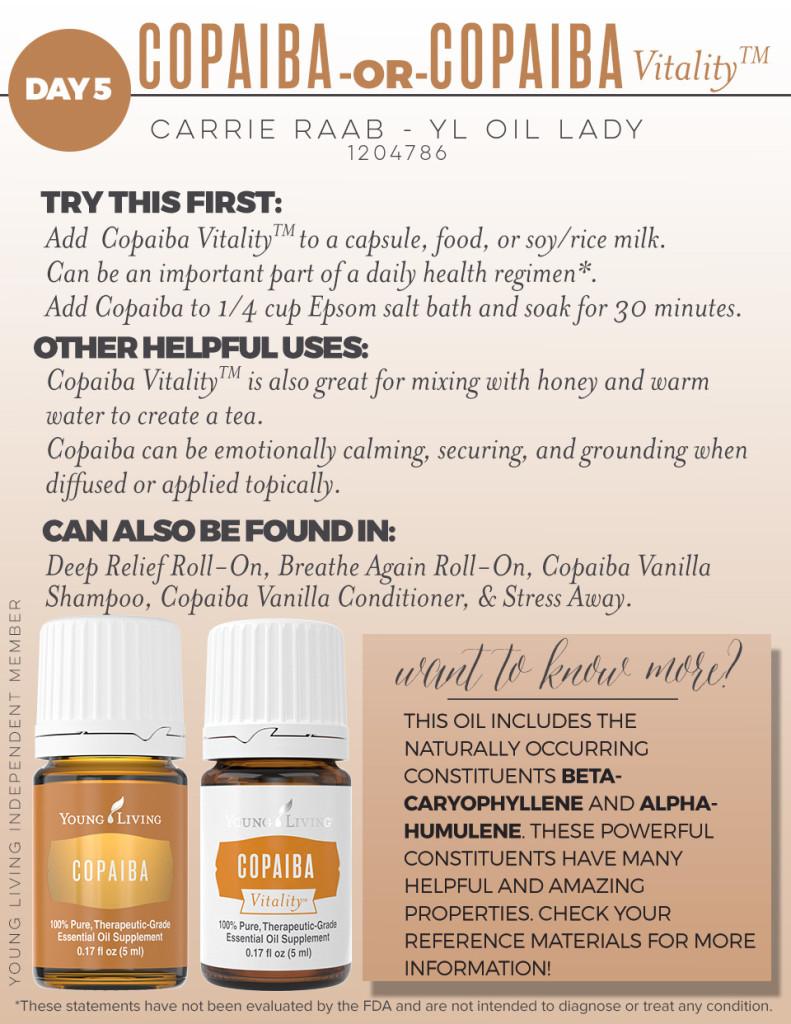 YL Copaiba and Copiaba vitality oil