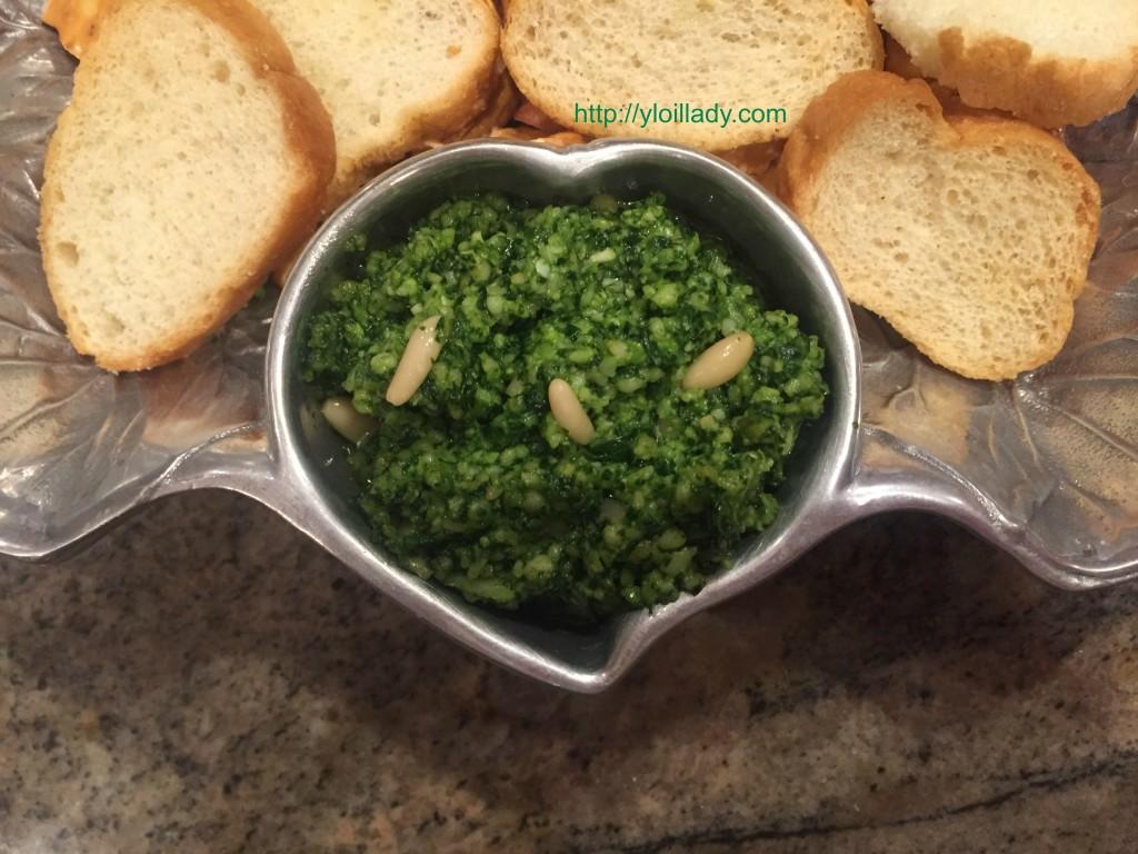 spinach lemon basil vitality pesto