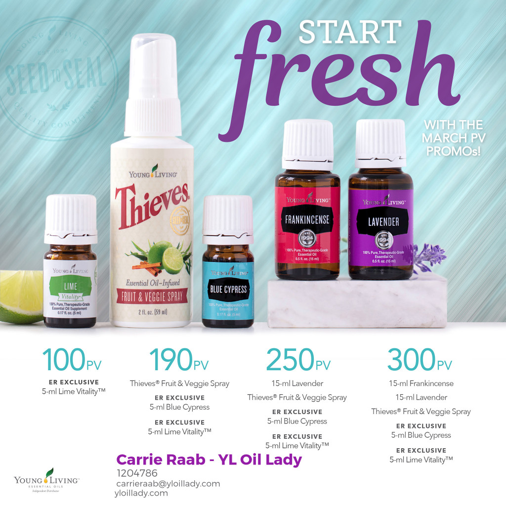 Young Living March Free Product Promotion
