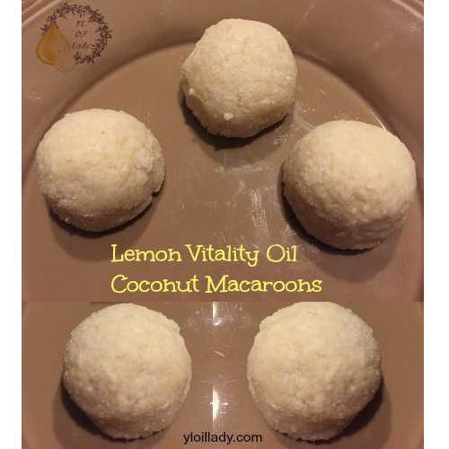 lemon vitality oil coconut macaroons