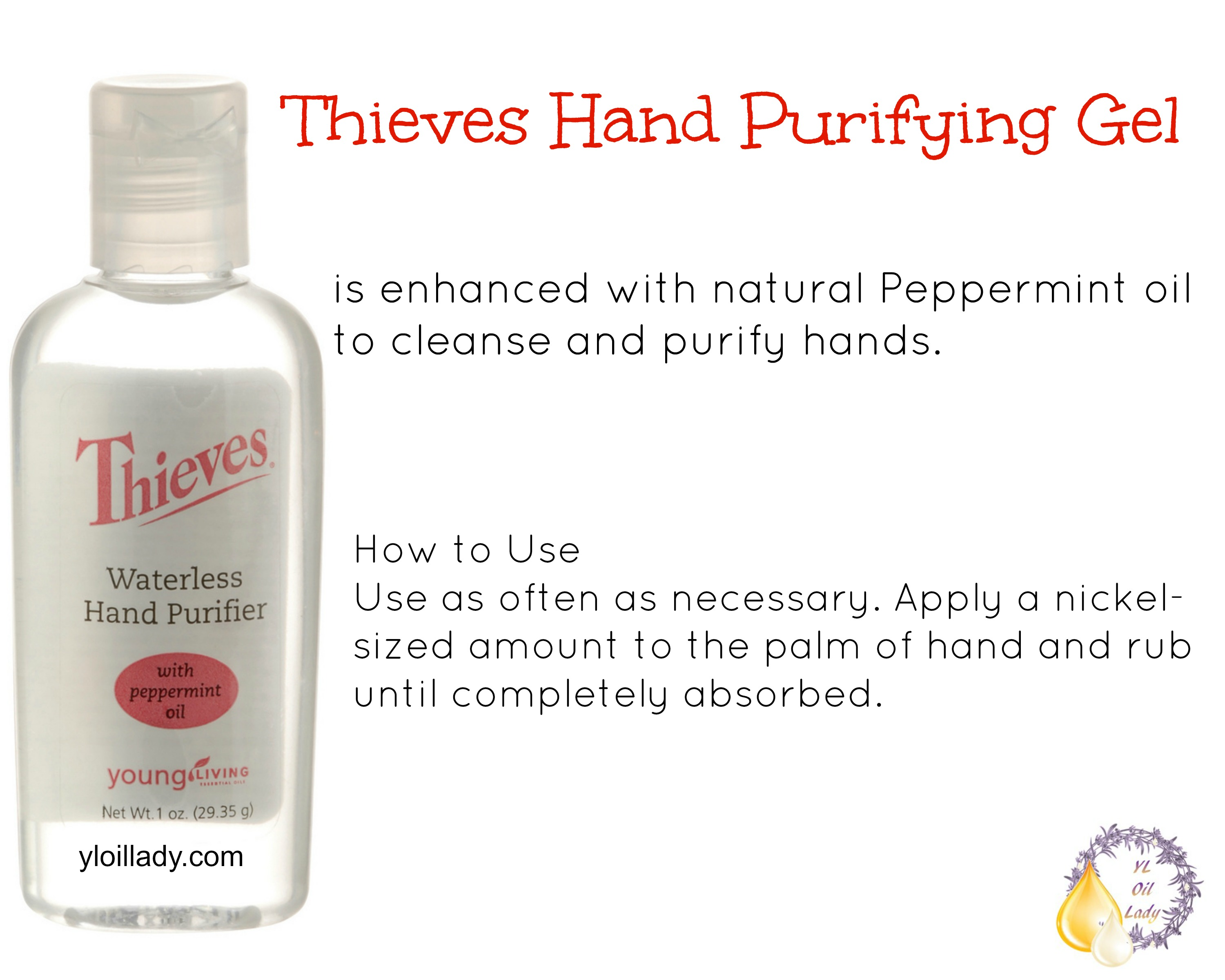 Thieves Purifying Hand Gel — YL Oil Lady | A Christian Homeschool ...